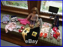 18 Inch American Girl doll, strawberry hair, green eyes, outfits also