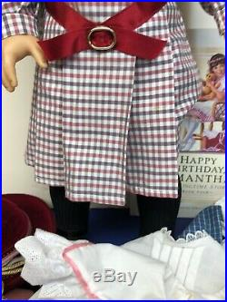 18 Pleasant Original American Girl Doll Samantha Meet Outfit & More Retired