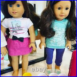 4American Girl dolls, 25+shoes, 16+ Outfits+moreGrace, Isabel, Nikki, lookalike