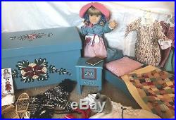 AG/Pleasant Company Kirsten Doll w Trunk, Bed, Nightstand and Many Outfits/Acc