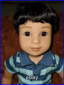 AMERICAN GIRL BOY DOLL Truly Me #75 Brown Hair and Eyes Adorable Outfit book box