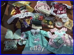 American Girl Cecile Outfits/accessories/birdcage/glassware/treats Lot