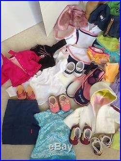 AMERICAN GIRL DOLLS MARISOL TODAY BF-GT7F GT21F MEET OUTFIT SHOES TENNIS PJs LOT