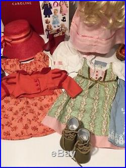 AMERICAN GIRL DOLL CAROLINE Plus OUTFITS & ACCESSORIES LOT EXCELLENT