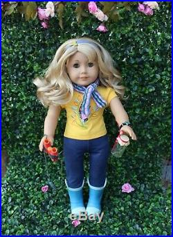 AMERICAN GIRL DOLL LANIE 2010 & Books, Accessories, Nature Outfit, Nature Set