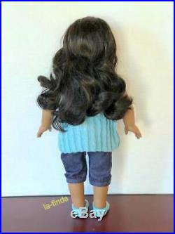 AMERICAN GIRL DOLL SONALI with SHINY HAIR in MEET OUTFIT RARE Gwen's Friend
