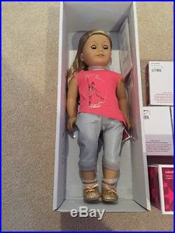 AMERICAN GIRL Doll Lot ISABELLE dance outfit Case Skirt Leotard Wrap