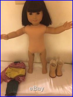 AMERICAN GIRL-IVY LING Doll, Original Outfit, RETIRED with Pierced Ears EUC