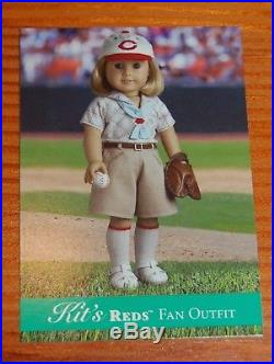 AMERICAN GIRL KIT Cincinnati Reds Fan Baseball Outfit NEW! NIB complete! Retired