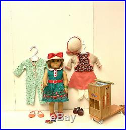 AMERICAN GIRL KIT DOLL (RETIRED) COLLECTION-with DOLL, 3 OUTFITS, BOOKS, SCOOTER
