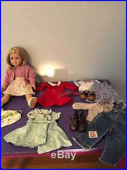 AMERICAN GIRL KIT KITTREDGE doll with many original outfits, accessories & books