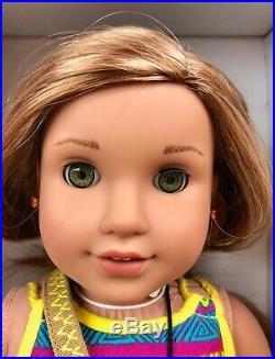 AMERICAN GIRL Lea Clark DOLL + RAINFOREST HIKE OUTFIT GOTY 2016 EARRINGS