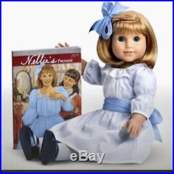 AMERICAN GIRL NELLIE DOLL + BOOK + MEET OUTFIT NIB Brand New 18 doll withfreckles