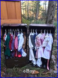 AMERICAN GIRL TRUNK 10 OUTFITS SAMANTHA 8 ADDY 7 KIRSTEN 16 rare accessory sets