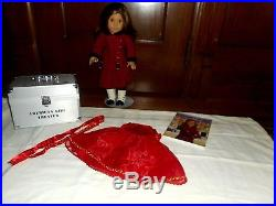 A/G REBECCA Doll Lot Pre-BeForever- 3 OUTFITS, THEATER SET, HAT, METAL BOX-BOOK