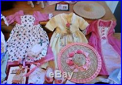 Amazing Vtg Pleasant Company American Girl Lot-felicity Polly Cradle Outfits Etc