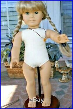 AmericanGirl KIRSTEN DOLL WhiteBodyPleasant Co withAmber Necklace, Meet Outfit, SARI