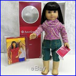 American Chinese Girl Doll IVY LING + Meet Outfit Earrings Accessory Book BOX +