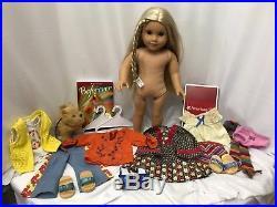 American Girl 18Doll Beforever Julie 4-Outfit 3-Shoes Dog Book Hangers HUGE LOT