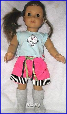 American Girl 18' Beautiful Dolls 2 Piece Lot With Outfits In Euc