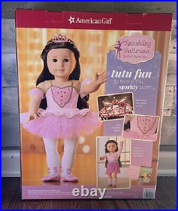 American Girl 18 Black Hair Sparkling Ballerina Doll & Outfit Set 12 Pieces