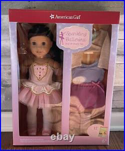 American Girl 18 Brown Hair Sparkling Ballerina Doll & Outfit Set 12 Pieces