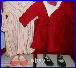American Girl 18 Doll KIT AND RUTHIE IN CHRISTMAS OUTFIT HUGE LOT! WITH BOXES