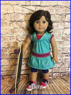 American Girl 18 Doll Lindsey Retired GOTY with Skateboarding Outfit