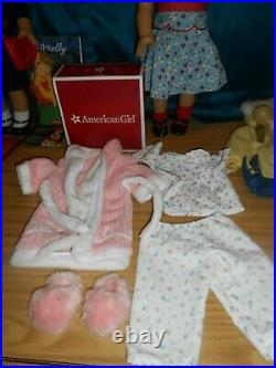 American Girl 18 Doll MOLLY AND EMILY IN MEET OUTFITS HUGE LOT
