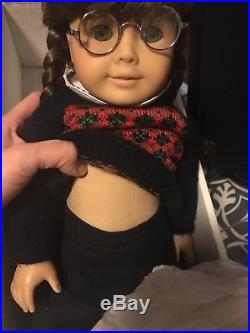 American Girl 18 Doll Molly McIntire, outfit, glasses, original box