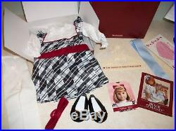 American Girl 18 Doll NELLIE in Meet Outfit (withBox & Book) and Holiday Outfit