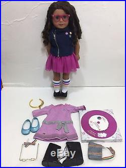 American Girl 18 Dolls Lot Truly Me #44 Outfits Clothing Medium Skin Curly Hair