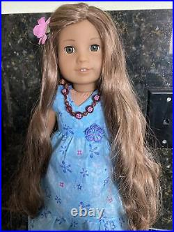 American Girl 18 KANANI DOLL In MEET OUTFIT Necklace Barrette Wonderful Cond