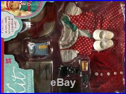 American Girl 18 Kit doll w extra outfits NIB set lot
