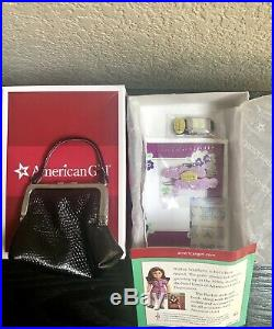 American Girl 18 Ruthie doll, book, accessories, Pajamas outfit NIB Retired
