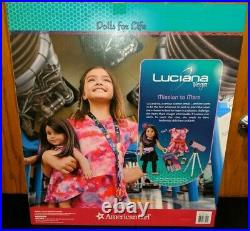 American Girl 18 inch Luciana Doll Book Telescope Starry Night Outfit NEW LOT