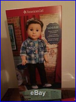 American Girl 1st Boy Doll Logan Everett & 3 Outfits BNIB