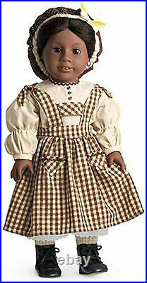 American Girl Addy Birthday Dress Outfit Pinafore & Snood Brand New In Box RARE