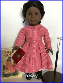 American Girl Addy Pleasant Company With Meet Outfit Book Stand Excellent Shape