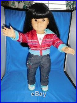 American Girl Asian Doll #4 Retired With Ready For Fun Complete Outfit Euc