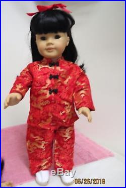 American Girl Asian MAG JLY #4 Black Hair Brown Eyes Retired PC Outfit AG Shoes
