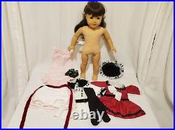 American Girl Beforever Samantha doll, +outfits holiday dress coat nightgown lot