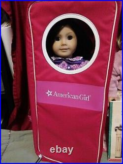 American Girl Best Friends Kit And Ruthie In Meet Outfits, Books, Plus Doll Cases