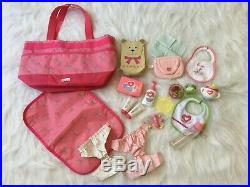American Girl Bitty Baby Lot (Clothes Outfits Shoes Accessories Twin Girl Doll)