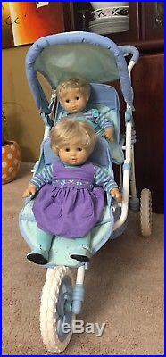 American Girl Bitty Baby Twins with Stroller, Changing Table, Outfits and Books