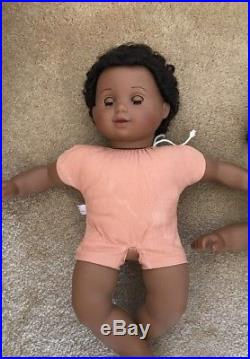 American Girl Bitty Twins African American Black Dark Skin Doll Set with Outfits