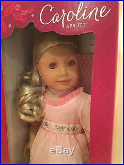 American Girl CAROLINE ABBOTT doll + extra outfit NRFB NEW Beforever