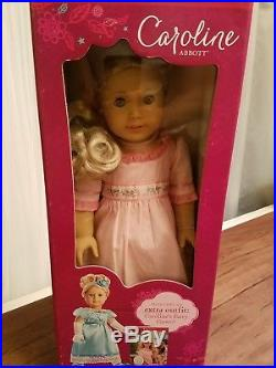 American Girl CAROLINE ABBOTT + extra outfit And Book NRFB
