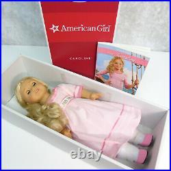 American Girl CAROLINE GOTY DOLL + MEET OUTFIT + BOOK Blue Green Eyes Blonde BOX
