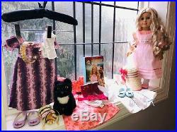 American Girl Caroline Abbott with 4 Outfits, Pet Inkpot, Accessories & Book